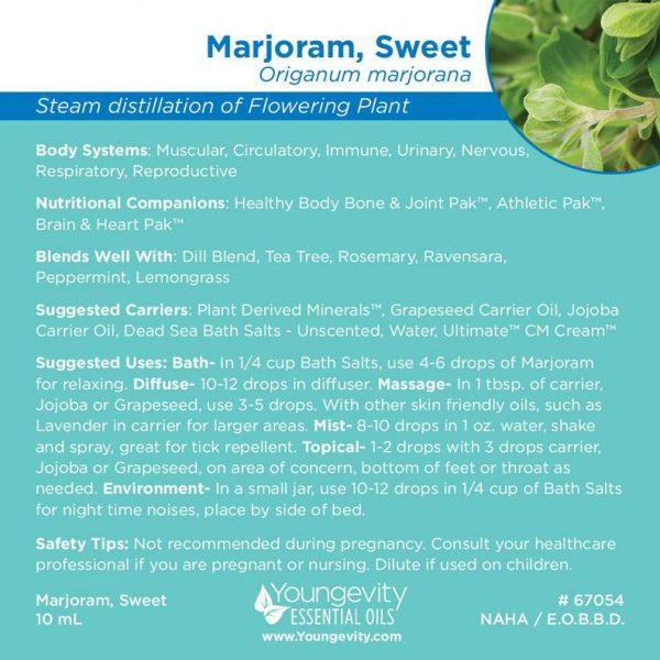Marjoram Sweet Essential Oil 10ml